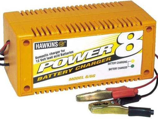 Power-8 5 amp universal domestic manual battery taper charger